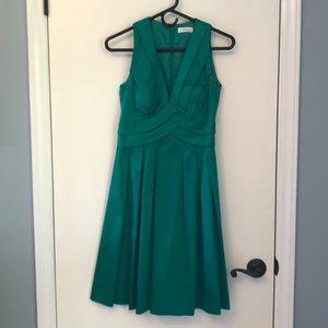 Green Calvin Klein cocktail dress